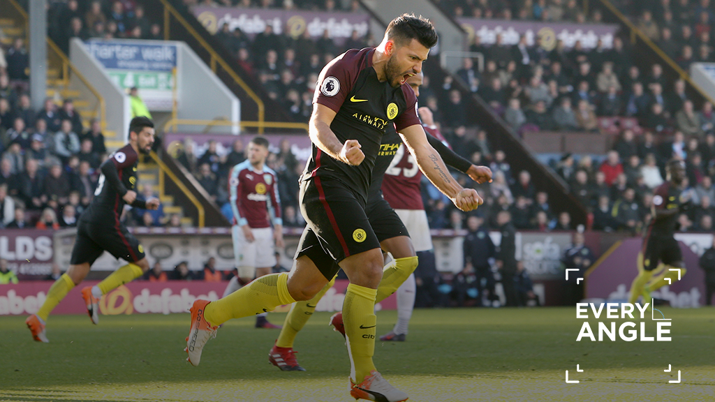 Every angle: Sergio Aguero v Burnley