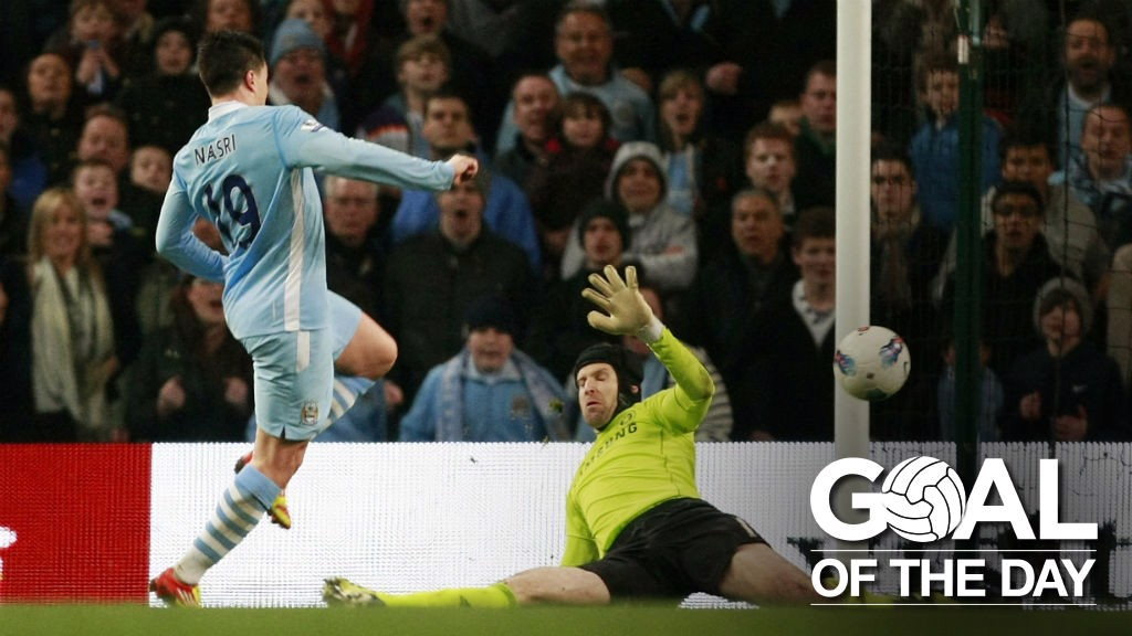 Goal of the Day: Nasri v Chelsea