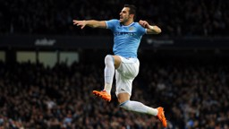 HIGH BAR: Negredo got off to a flying start at Manchester City