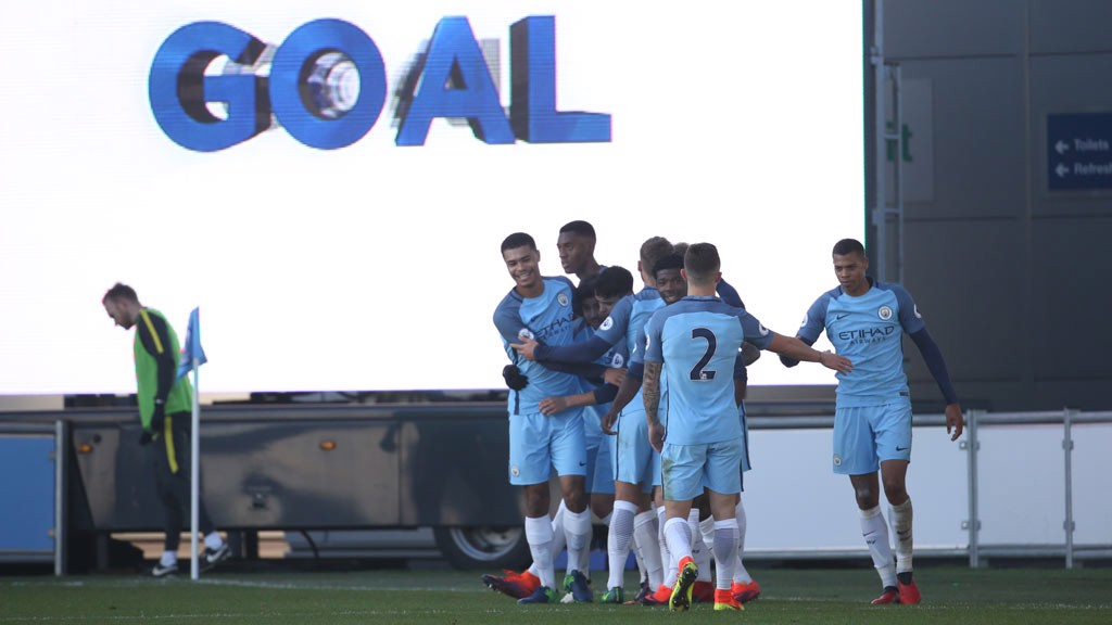 GOAL: City celebrate yet another goal