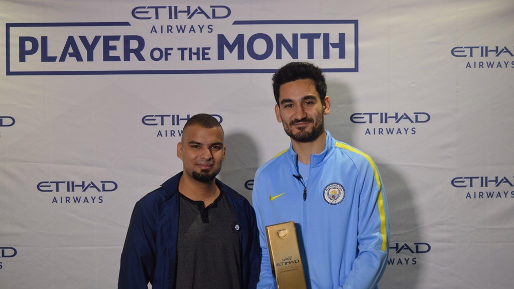Gundogan receives Etihad Player of the Month award