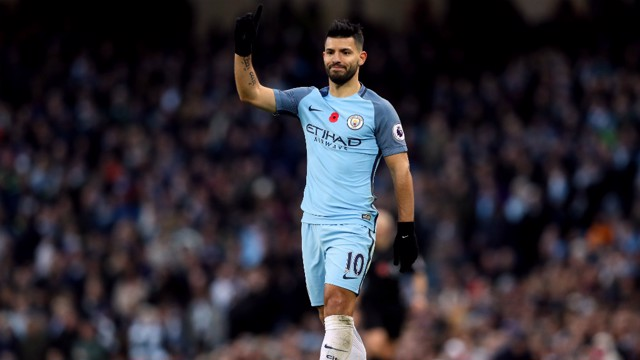 GOALS GALORE: Sergio Aguero is looking forward to playing alongside Gabriel Jesus.