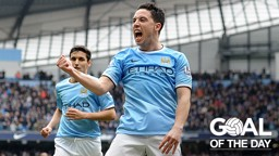 SIMPLI-CITY: Samir Nasri finishes off a fine move with an easy finish against Southampton