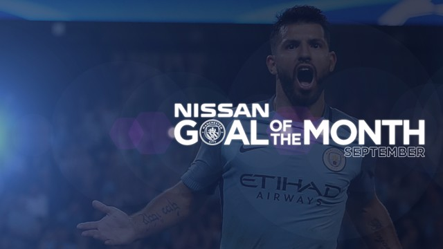 GOAL OF THE MONTH: Sergio Aguero is one of our nominees for September's award