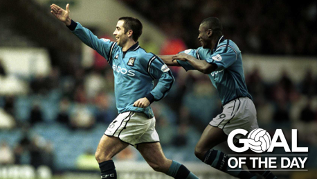 VOLLEY: Kevin Horlock delivers an insane volley against Bradford City in 2001