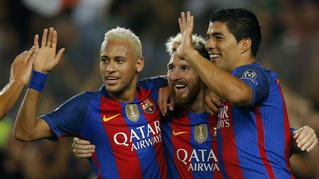 DEADLY TRIO: Barcelona's front three are regarded by many as the best in the world.