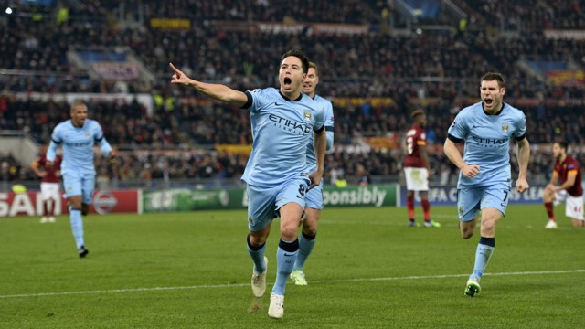 NASRI: The French midfielder produced an excellent strike to beat Roma but where did it lie in our top five?