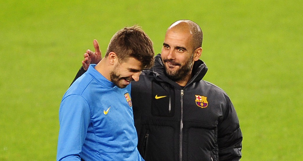 PEP TALK: Pique remains on of Pep's biggest fans