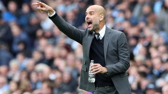 PEP: Boss sends his orders on to the pitch