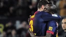 BARCA BROTHERS: Gerard Pique and Eric Abidal