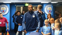 FOCUSED: Fernandinho in a determined mood ahead of the clash with Everton
