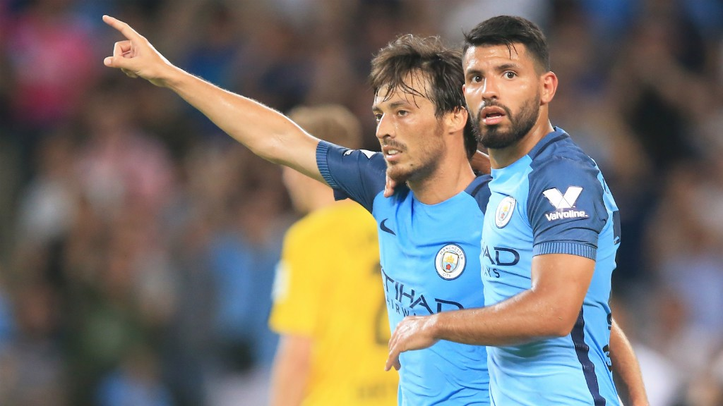 BLUES BROTHERS: Aguero and Silva expect City to mount a challenge in Europe.