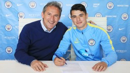 DONE DEAL: Brahim is congratulated by Txiki Begiristain