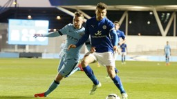 BATTLE: City and Leicester's Elite Development Squads tussle for the ball back in 2014