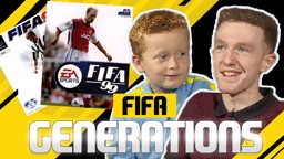 GOING RETRO: Braydon Bent and Kez Brown go head-to-head playing old school FIFA games