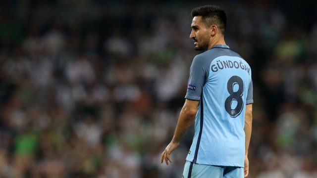 OPENING NIGHT: Gundogan put in an exceptional performance during his first appearance for Pep's Blues