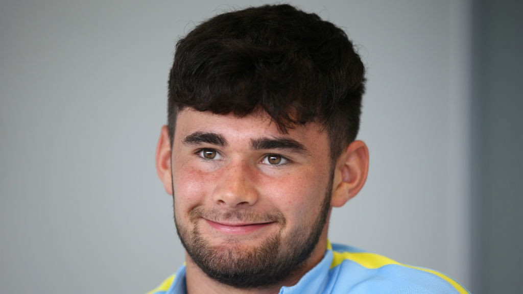 HARDY: City's U18s striker is pleased with his early season form
