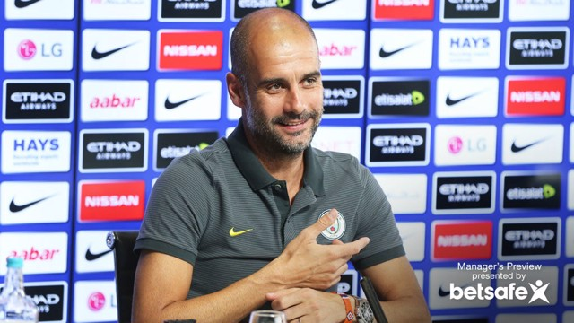 PEP TALK: Boss previews City's EFL Cup tie with Swansea