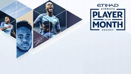 Sterling voted Etihad Player of the Month