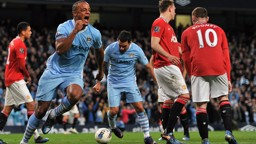 DERBY SPIRIT: Vincent Kompany