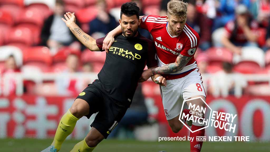 Every Touch: Aguero v Boro