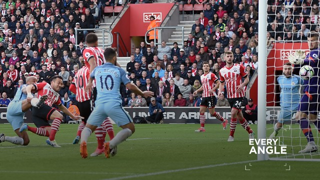 EVERY ANGLE: Watch the skipper's header at Southampton over and over