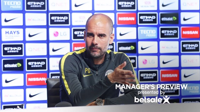 MAKING HIS POINT: Pep Guardiola