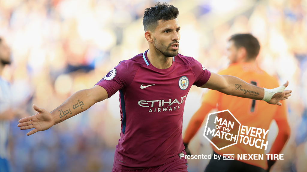 EVERY TOUCH: Relive Aguero's every move v Brighton on Saturday