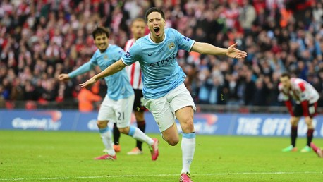 MATCH WINNER: Goal scorer and man of the match in the 2014 League Cup final.