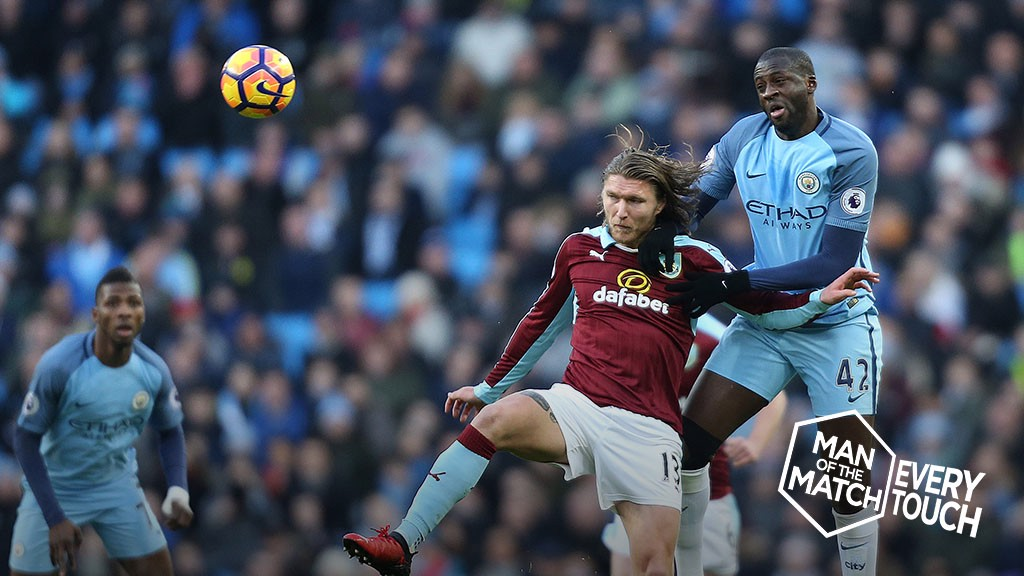 EVERY TOUCH: Yaya v Burnley