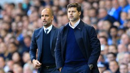 MEETING OF MINDS: Guardiola and Pochettino have had an entwined history during their careers