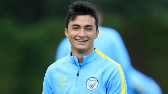 GARCIA: City's 19-year-old Spanish midfielder during pre-season training at the City Football Academy