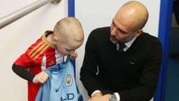 Bradley Lowery and Pep Guardiola