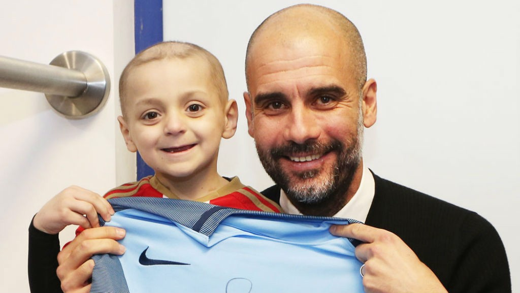 BRAVE: Little Bradley and Pep are all smiles