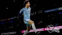 GET IN: Leroy Sane celebrates the opener against Tottenham