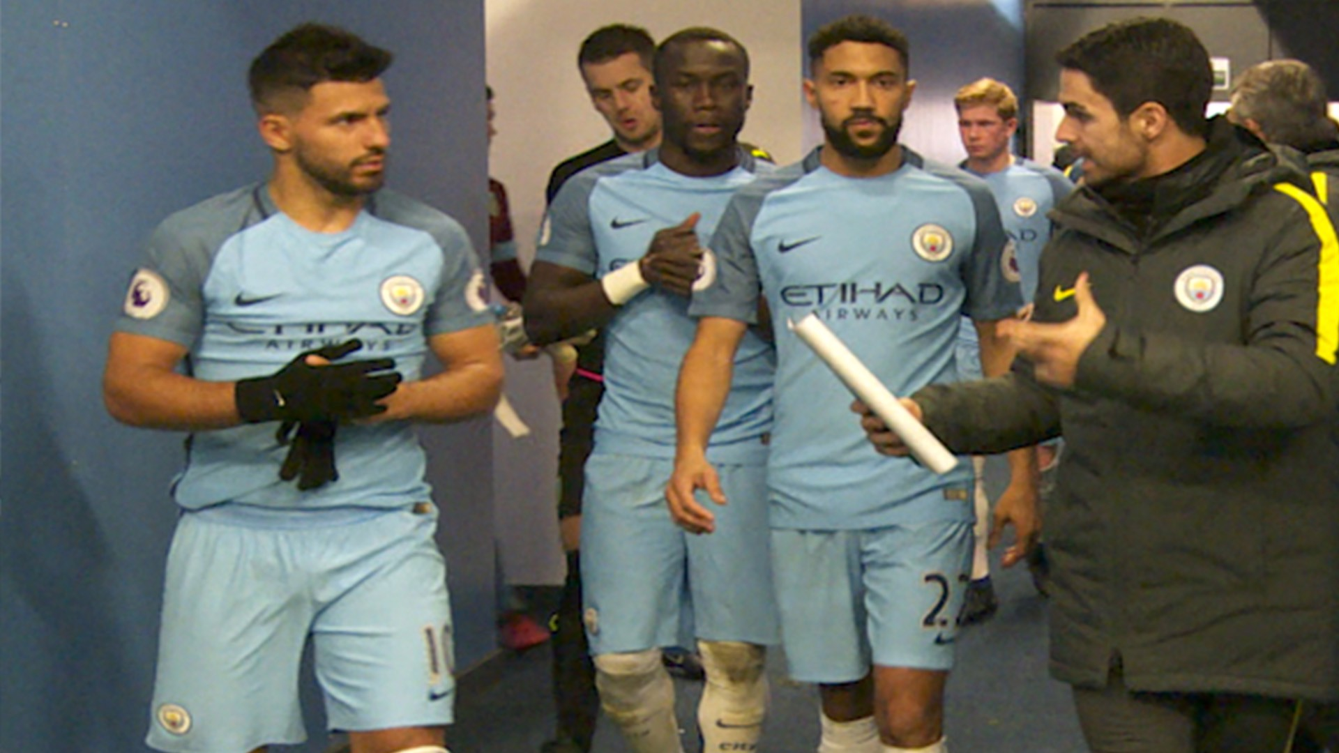 NEW YEAR, NEW TUNNEL: A look inside City's temporary player's tunnel; pre, during and post match for City v Burnley.