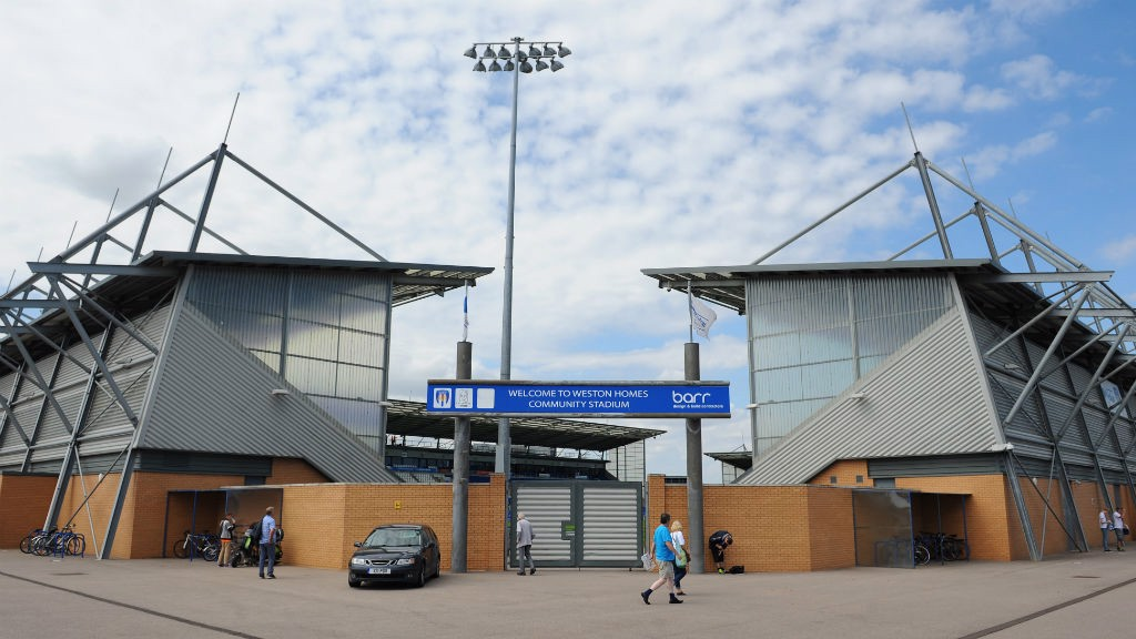 WESTON HOMES COMMUNITY STADIUM: City came up against Colchester United in the Premier League Cup