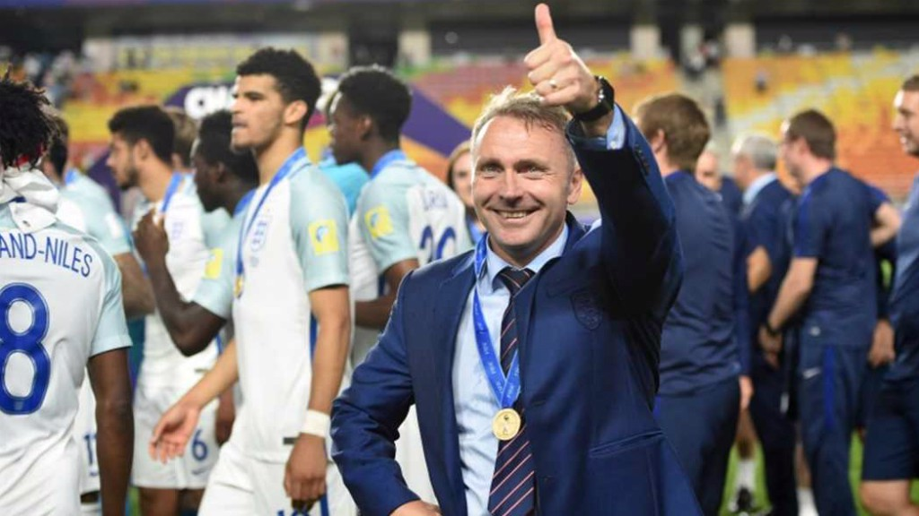 HERO: Former Man City player Paul Simpson led England U20s to World Cup glory