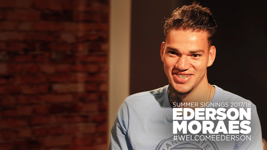 Manchester City announce signing of goalkeeper Ederson from Benfica