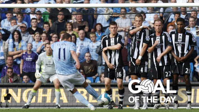 ROCKET: Elano hits a worldie against Newcastle