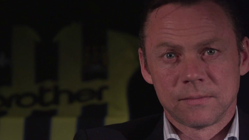 PLAY OFF HERO: Paul Dickov relives that famous Wembley day.