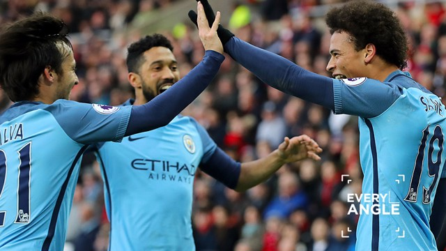 IN FOCUS: Leroy Sane's strike against Sunderland.
