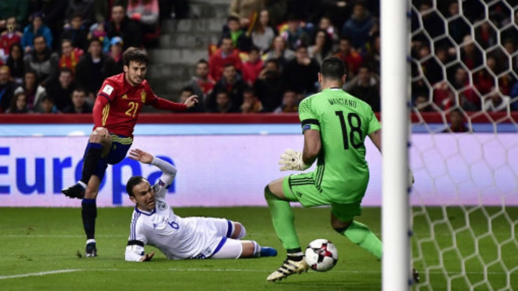 SILVA SHINES: El Mago scored in Spains win over Israel