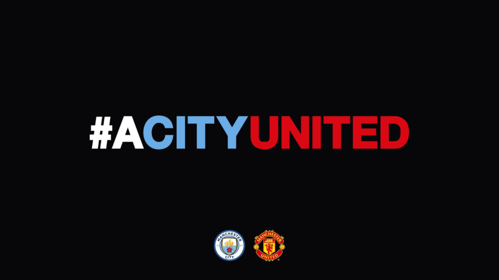 A CITY UNITED: Both Clubs will make a donation to the We Love Manchester Emergency Fund to support the victims of Monday's terrorist attack