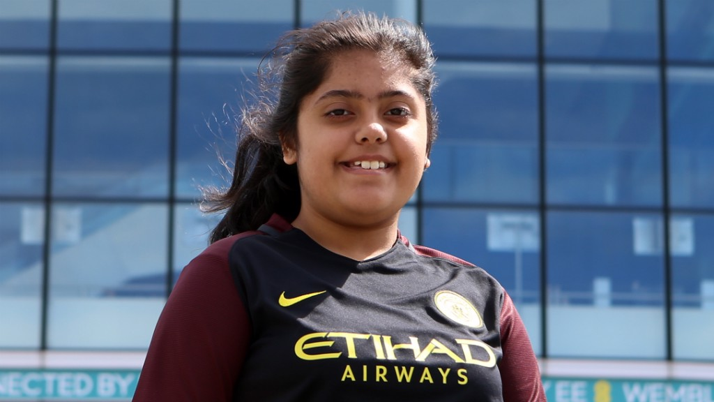 DREAMS: City in the Community participant Laiba Humayon will never forget Man City Women's FA Cup win at Wembley.