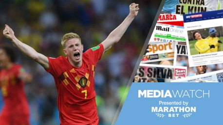Media Watch: Press hail 'deadly' De Bruyne