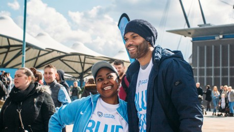 Lescott supports City in the Community's Blue Run