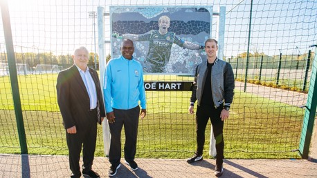 Joe Hart attends CFA for tribute pitch unveiling