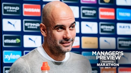 PEP TALK: The boss addresses the media ahead of Crystal Palace