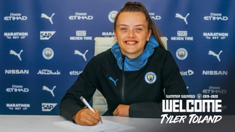 Tyler Toland signs for City